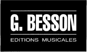 Editions musicales Georges BESSON