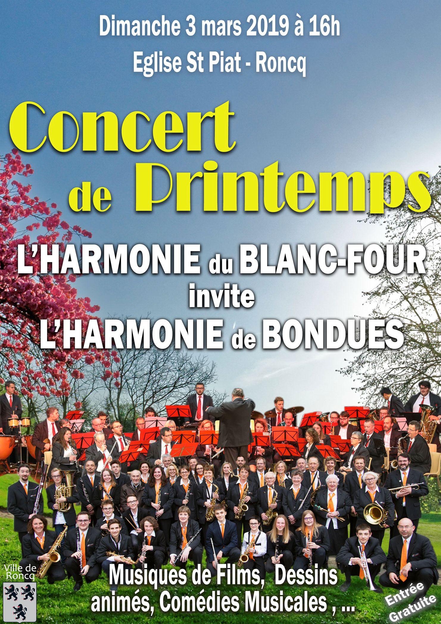Concert avec l'harmonie du Blanc Four @ Eglise St Piat, Roncq